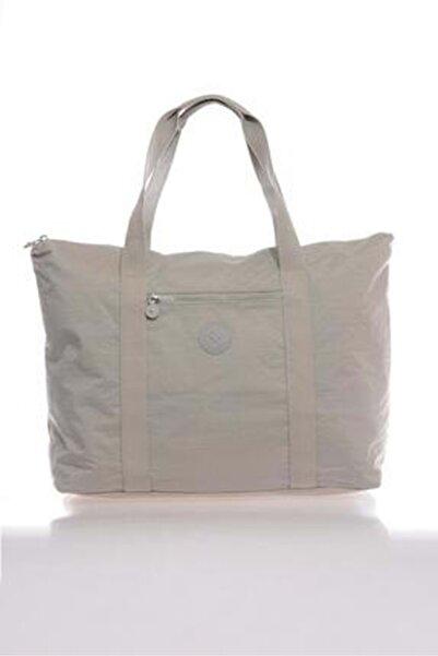 SMART BAGS Kadın Gri Büyük Boy Çanta 3041
