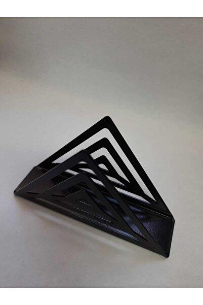 Steelizm Siyah Üçgen Metal Peçetelik