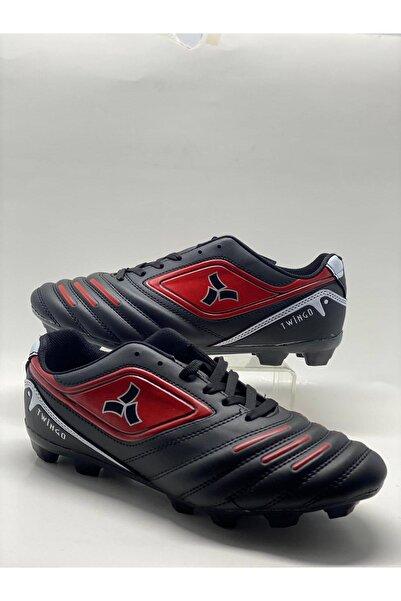 Twingo Erkek Siyah Kırmızı Halı Saha Ayakkabısı