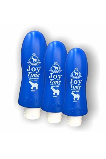 joy time Kayganlaştırıcı Jel Sade - Kokusuz 200ml Su Bazlı Masaj Jeli 3 Adet