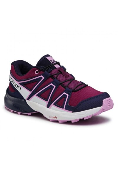 Salomon 412888 Speedcross J Plum Caspia/evening Blue/orchid Kadın Outdoor Ayakkabı