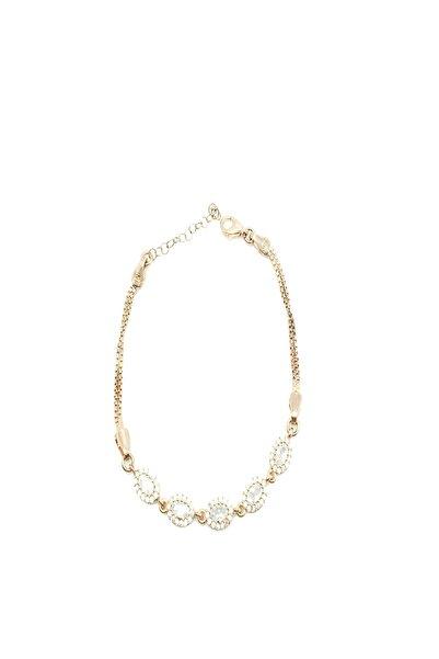 Afrodit Silver 925 Ayar Gümüş Oval Kesim Saydam Zirkon Taşlı Su Yolu Kadın Bileklik