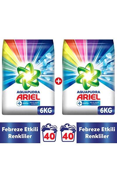 Ariel Febreze Etkili Renkliler Özel 12 kg Aqua Pudra Toz Çamaşır Deterjanı ( 6kg x 2 )