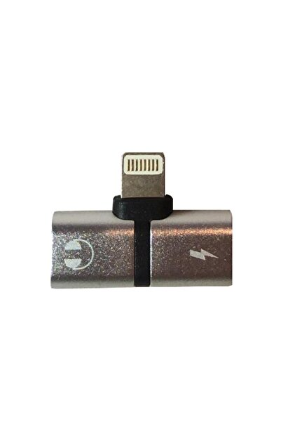 Platoon Iphone Uyumlu Lightning Port Çoklayıcı Gümüş Adaptör