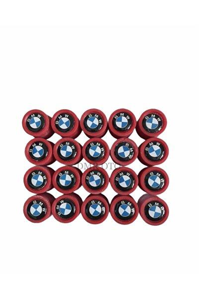 DMR Bmw Kırmızı Silikon Bijon Kapağı 20'li