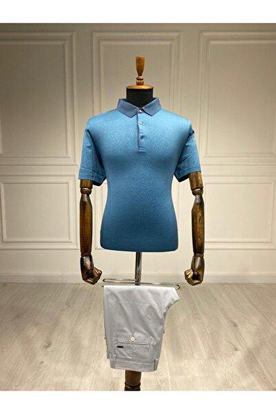 Sarar Premium Polo Yaka Turkuaz T-shirt