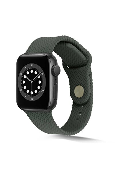 zore Apple Watch 44mm Krd-37 Silikon Kordon Koyu Yeşil