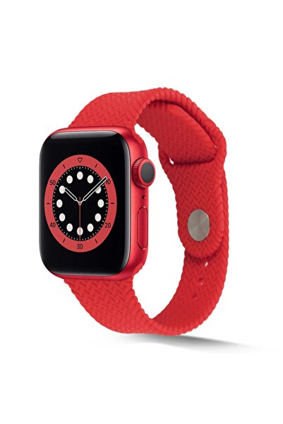 zore Apple Watch 44mm Krd-37 Silikon Kordon Kırmızı