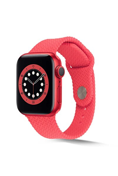 zore Apple Watch 44mm Krd-37 Silikon Kordon Pembe