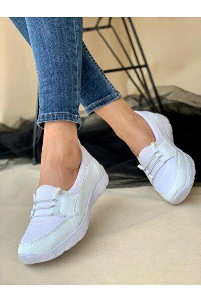 AYŞEM Kadın Beyaz Ortopedik Günlük Ayakkabı