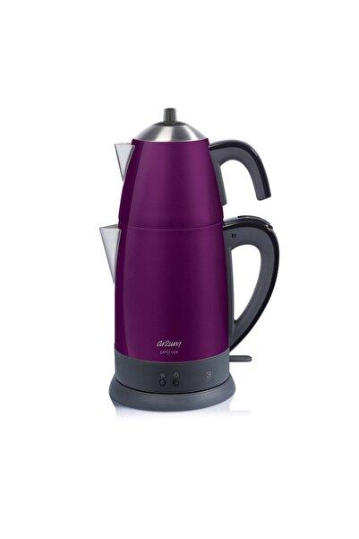Arzum AR3055 Çaycı Lux 1800 Watt Çay Makinesi - Mürdüm