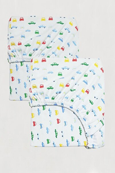 MOTHERCARE Kısayol Concept - Pamuklu Penye Araba Figür On The Road Tek Kişilik Çarşaf 2'li