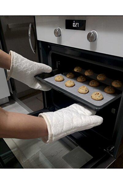Mutfakta Moda Fırın Eldiveni / %100 Havlu Ev Tipi Profesyonel Mutfak Eldiveni 30 Cm.