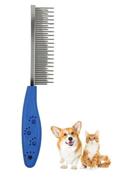 Buffer Tüy Açıcı Kedi Köpek Tarağı Tek Taraflı Metal Dişli Evcil Hayvan Bakım Fırçası