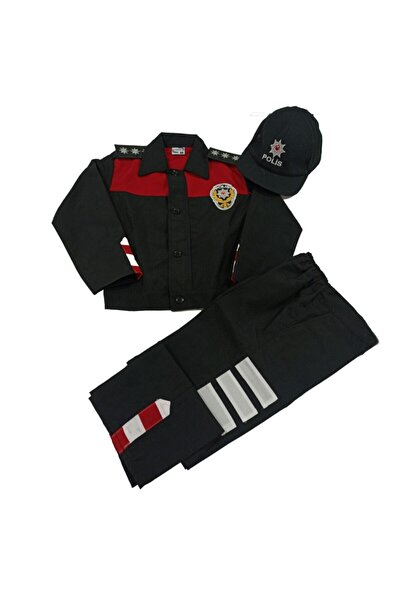 NO NAME Erkek Çocuk Kırmızı Yunus Polis Kıyafeti