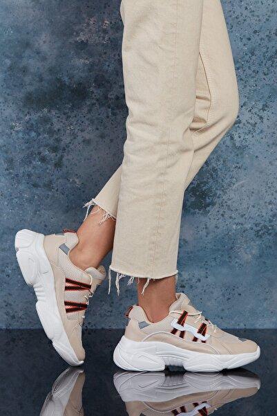 DARK SEER Bej Beyaz Kadın Sneaker