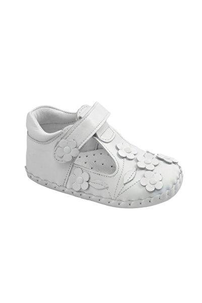 KAPTAN JUNIOR Ilkadım Hakiki Deri Kız Bebek Çocuk Ortopedik Ayakkabı Patik