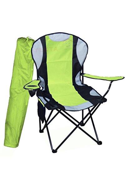 Yekta Home Mega Büyük Kamp Sandalyesi Xl Kamp Sandalyesi Katlanır Sandalye Yeşil