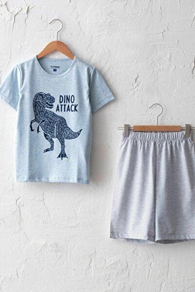 LC Waikiki Erkek Çocuk Mavi Melanj Dsw Pijama Takımı