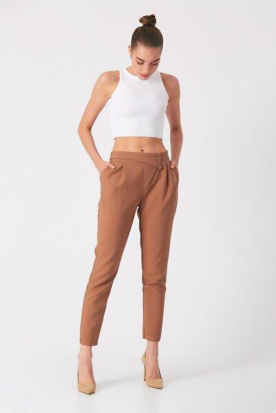 Robin Kadın Vizon Bel Detaylı Cepli Pantolon