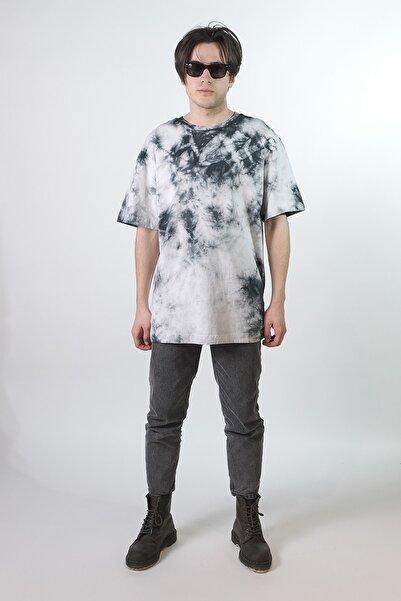 HOLEACADEMIE Unisex Siyah Batik T-Shirt