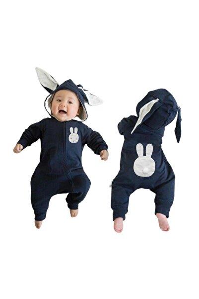 bebegen Yeni Model Laci Tavşan Kulaklı Ponponlu Bebek Tulum