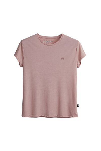 Bad Bear Kadın Pudra Pembe Tişört Vıolet O-neck Tee