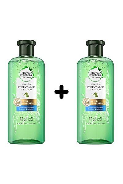 Herbal Essences Sülfatsız Güç Ve Nem Aloe + Bambu Şampuan 2'li (2x380 Ml)