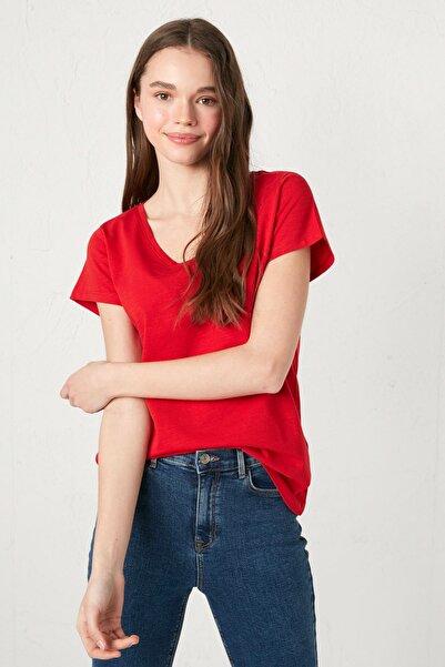 LC Waikiki Kadın Kırmızı Tişört
