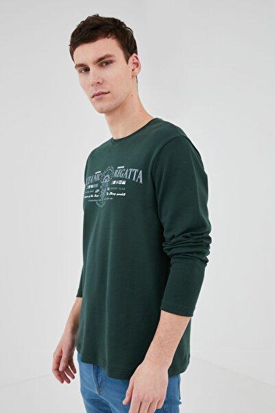 LC Waikiki Erkek Koyu Yeşil T-Shirt