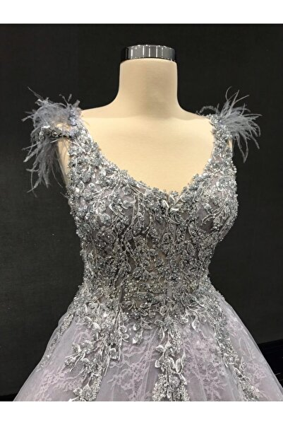 Womentic Bridal Antrasit Nişanlık Elbise