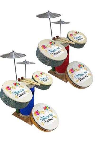 badi hediyelik Baskılı Çocuk Deri Bateri Set