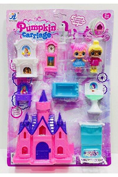 LOL Bebek Şato Evi 2 Adet L.o.l Bebekli Ev Eşyalı Ranzalı 9 Parça Bebek Oyuncak Set