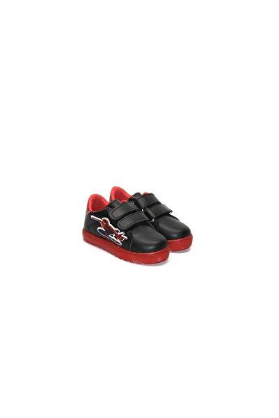 Minican Çocuk Örümcek Adam Karakterli Cırtlı Kırmızı-siyah Spor Ayakkabı