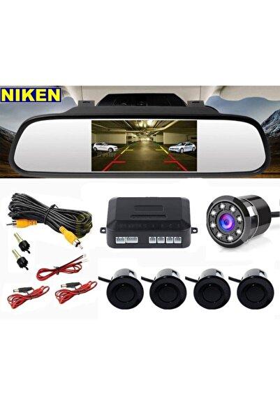 Niken Kameralı Park Sensörü Aynalı 4 Sensörlü Gece Görüşlü