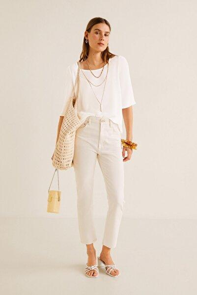 MANGO Woman Kadın Kırık Beyaz Bluz 43085784