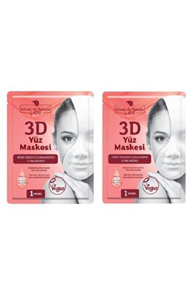 Rituel De Beaute Hücre Yenileyici & Nemlendirici & Canlandırıcı 3d Yüz Maskesi 2li Set