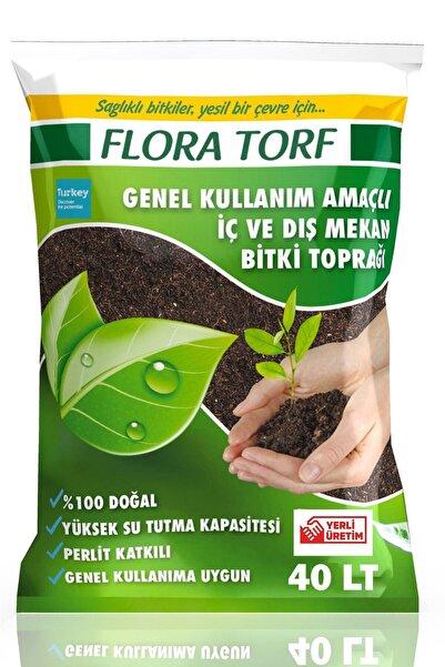 MF Botanik Flora Torf Saksı Çiçek Toprağı Perlit Katkılı 40 Litre