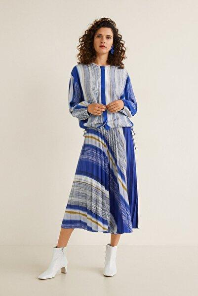 MANGO Woman Kadın Siyah Bluz 41043732