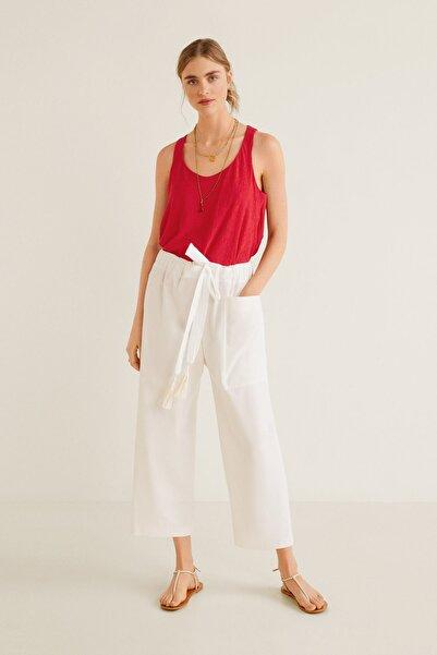 MANGO Woman Kadın Kırmızı Bluz 41067762