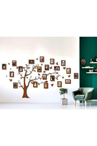 aynam Ahşap Soy Ağacı 20 Çerçeveli - Kahverengi