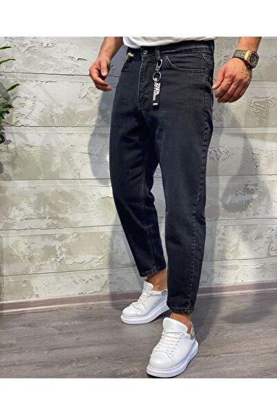 Oliggopol Erkek Siyah  Boyfriend Kot Pantolon