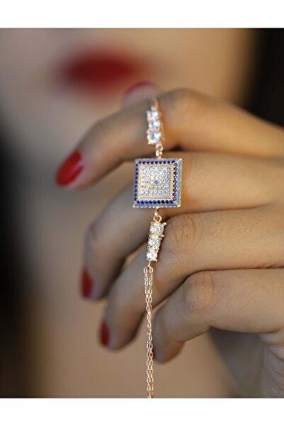 Midyat Gümüş Dünyası Kadın 925 Ayar Gümüş Nazar Model Zirkon Taşlı Bileklik