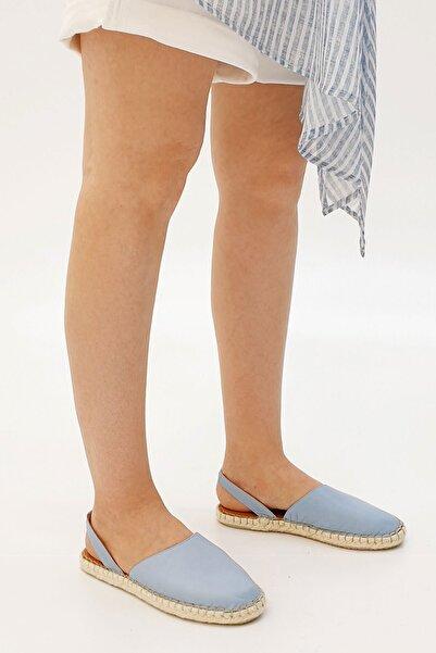 Marjin Molde Kadın Hakiki Deri Günlük Sandaletmavi
