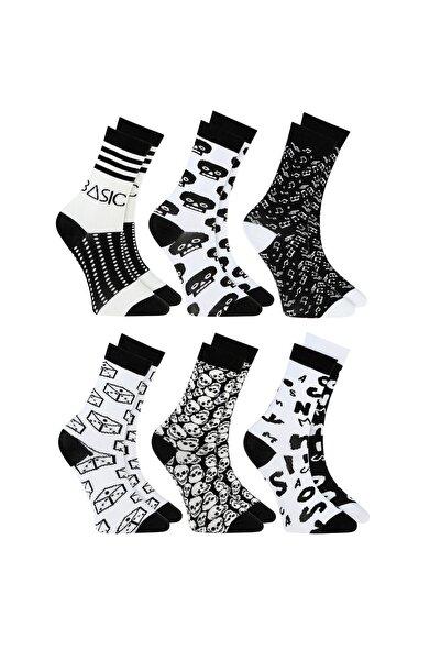 Özgür Çoraplar Siyah Beyaz Kombin