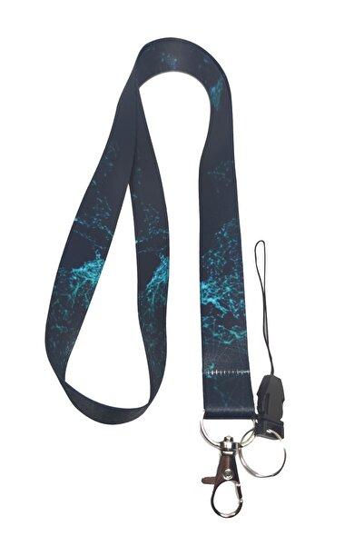 StormiStoretr Geometrik Desenli Boyun Ipi Ve Telefon Askısı