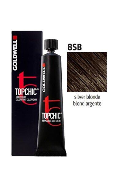 GOLDWELL Topchic Saç Boyası 8sb Gümüş Kumral 60 ml