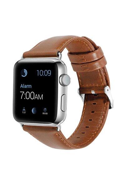 Nezih Case Apple Watch 2 3 4 5 6 Serisi 38/40mm Deri Kayış Kordon