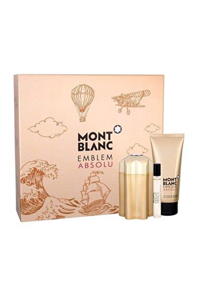 Montblanc Emblem Absolu Edt 100 ml Erkek Parfüm Seti 3386460097994
