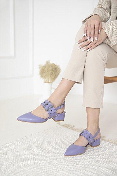 STRASWANS Amelia Deri Topuklu Ayakkabı Lila